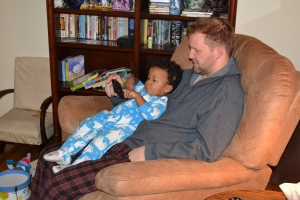 "watching ""Gangnam Style"" with Daddy"