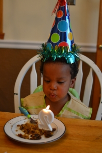 blowing out the candle again