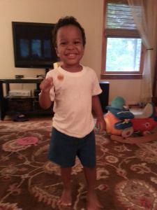 his first lollipop